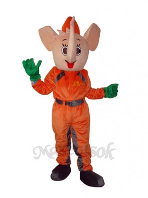 Orange Elephant Mascot Adult Costume