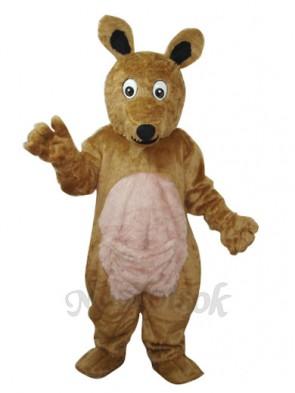 Long Hair brown Kangaroo Mascot Adult Costume