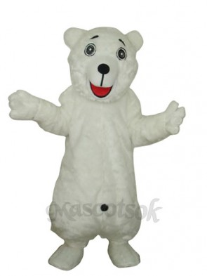White Polar Bear Adult Mascot Costume