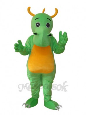 Big Nose Horned Green Dinosaur Mascot Adult Costume