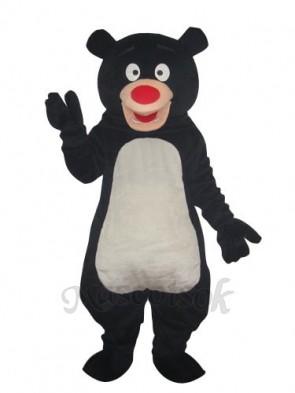 Black Blue Bear Mascot Adult Costume
