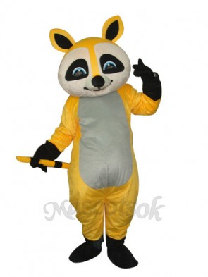 Yellow Raccoon Mascot Adult Costume