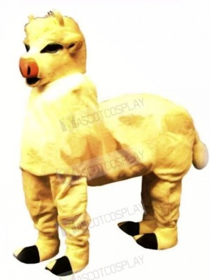 Cute Yellow New 2 Person Cow Mascot Costume