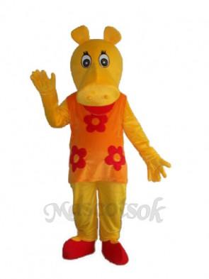 Old Hippopotamus Mascot Adult Costume