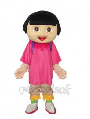 Dora Girl Mascot Adult Costume