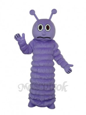 Purple Worm Mascot Adult Costume