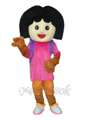 Revised Black Dora Mascot Adult Costume