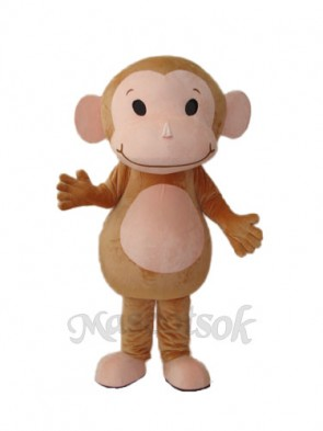 Little Brown Monkey Mascot Adult Costume
