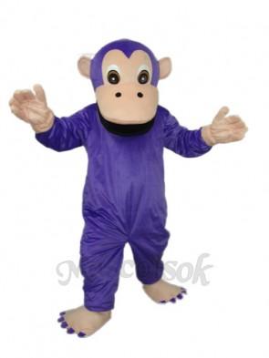 Purple Gorilla Mascot Adult Costume