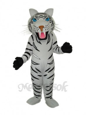 White Tiger Mascot Adult Costume