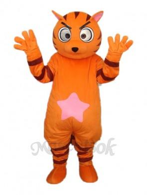 Orange Star Cat Mascot Adult Costume