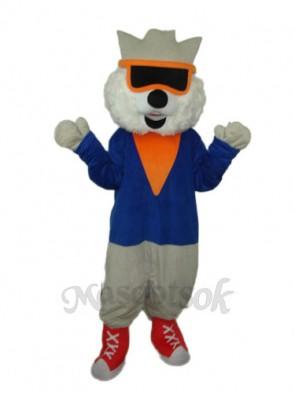Cat Wear Glasses Mascot Adult Costume