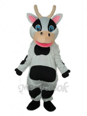 Black Dot Cow Mascot Adult Costume