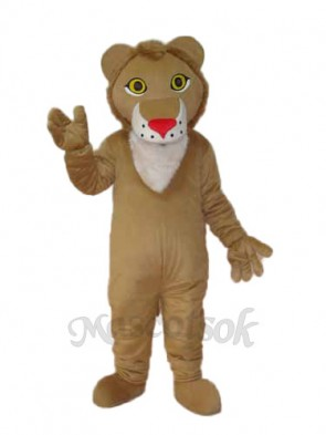 Yellow Lion Mascot Adult Costume