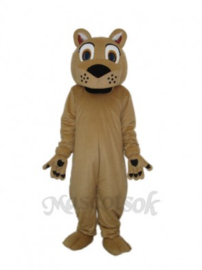 Beardless Lion Mascot Adult Costume
