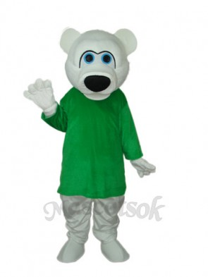 Strange White Bear Mascot Adult Costume