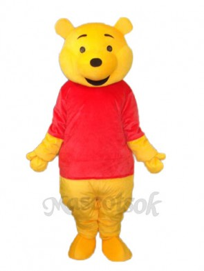 Winnie The Pooh Black Mouth Mascot Adult Costume