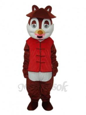Hat Squirrel Mascot Adult Costume