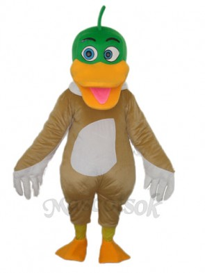 Green Duck Mascot Adult Costume