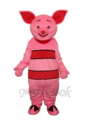 2nd Version Small Pink Pig Mascot Adult Costume