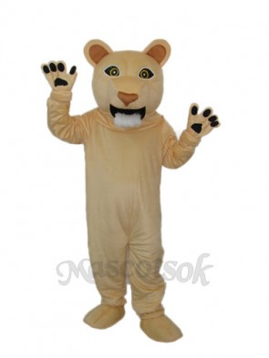 Beardless Cougar Mascot Adult Costume