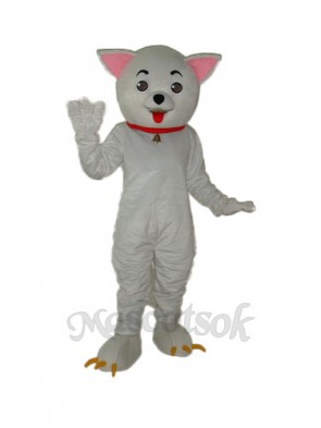 Pink Ear Clever Cat Mascot Adult Costume