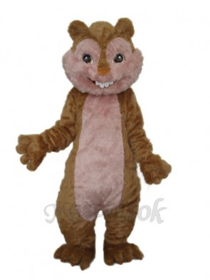 Long Wool Yellow Squirrel Mascot Adult Costume