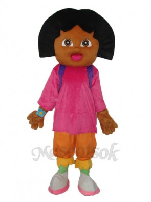 Smiling Dora Mascot Adult Costume