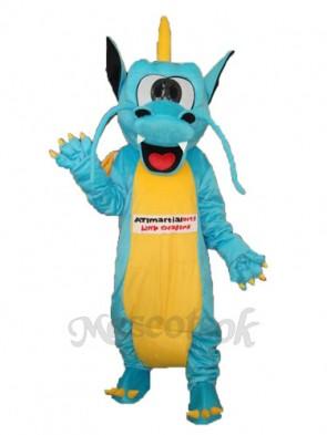 Serrated Teeth Dragon Mascot Adult Costume