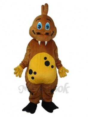 Golden Brown Dinosaur Mascot Adult Costume