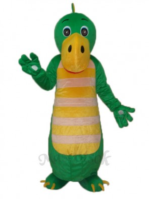 Green Chinese Dragon Mascot Adult Costume