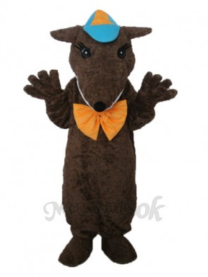 Brown Hairy Beast Mascot Adult Costume