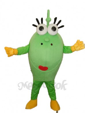 Big Green Eyes Monster Mascot Adult Costume