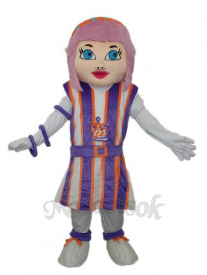 Purple Hair Girl Mascot Adult Costume