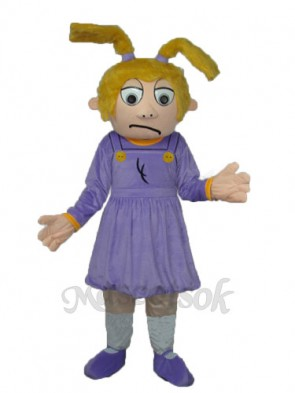 Crying Girl Mascot Adult Costume