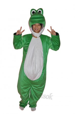Super Cute Show Face Green Dinosaur Adult Mascot Costume
