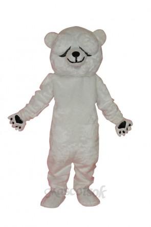 Simple and honest polar bears adult mascot costume