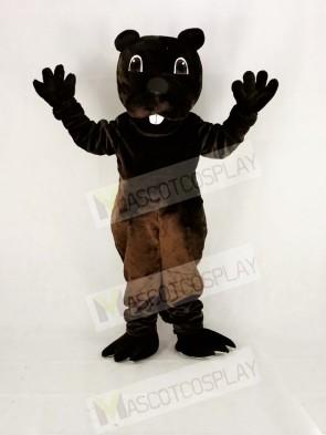 Funny Brown Barney Beaver Mascot Costume Cartoon