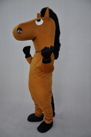 Brown Horse Plush Adult Mascot Costume