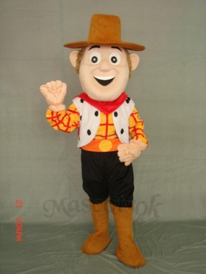 Cowboy Woody Plush Adult Mascot Costume