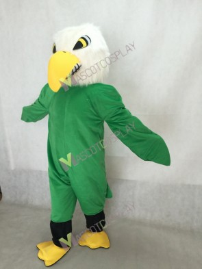 White Head Green Bald Eagle Mascot Costume