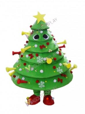Christmas Xmas Tree Mascot Costume with Decorations
