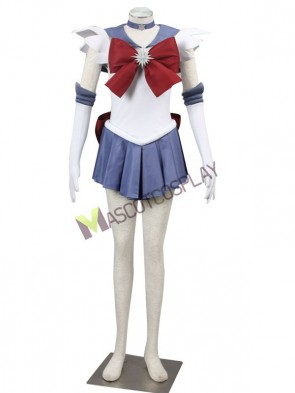 Beautiful Bow Decorated Tomoe Hotaru Sailor Moon Cosplay Costume