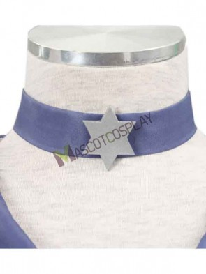 Sailor Moon Tomoe Hotaru Satin Hexagram Choker