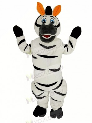 Orange Ears Madagascar Zebra Marty Mascot Costume