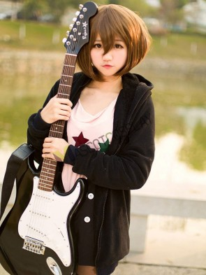 Cotton Blend Hirasawa Yui K-ON! Cosplay Costume Set
