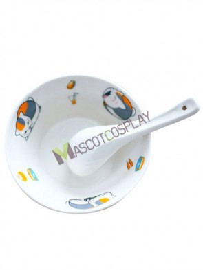 Natsume's Book Of Friends Anime Ceramic Dish Bowl Spoon Set