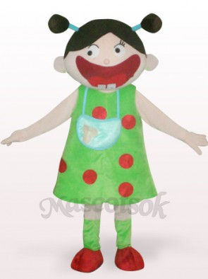 Arab Girl Plush Adult Mascot Costume
