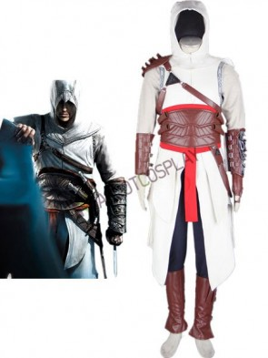 Assassin's Creed Altair Game Cosplay Costume Made of Cotton Leather