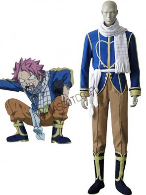 Blue Fairy Tail Natsu Dragneel Cosplay Costume